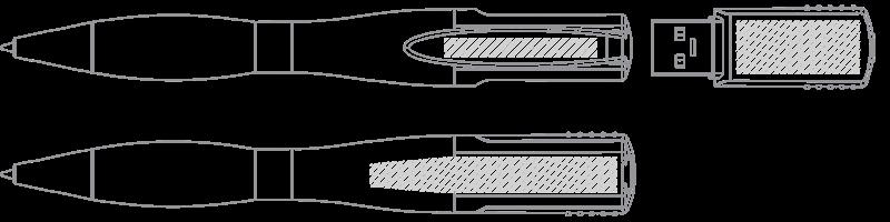 USB 筆型手指 網版印刷